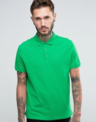 Armani Jeans Polo Shirt With Logo Regular Fit In Green Green