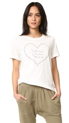 Sol Angeles Corazon Rolled Sleeve Tee White