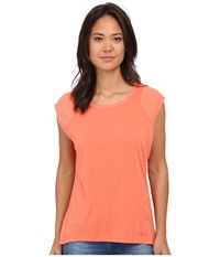 Bench Vapourz Short Sleeve Top Coral Women's Short Sleeve Pullover