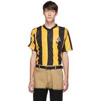 Martine Rose Yellow And Black Ruched Football T Shirt