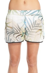 Ted Baker 'Twilight Floral' Print Cover Up Shorts Natural