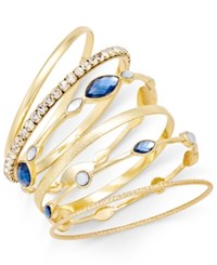 Inc International Concepts Gold Tone Set Of Six Stackable Bangle Bracelets Only At Macy's