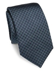 Saks Fifth Avenue Circle Dot Silk Tie Red Teal