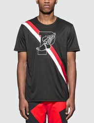 Polo Ralph Lauren P Wing Graphic Print T Shirt In Black
