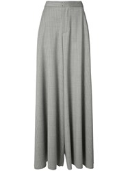 Baja East Flare Draped Trousers Women Virgin Wool 00 Grey