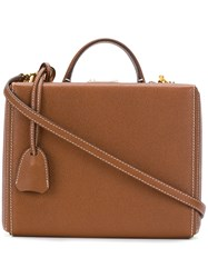 Mark Cross Grace Box Tote Leather Brown