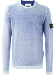 Stone Island Crew Neck Sweater Blue