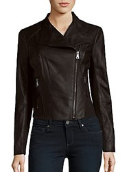 Marc New York Leather Long Sleeve Jacket Black
