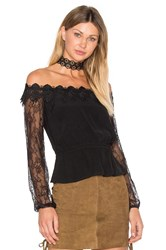Bardot Charlston Off Shoulder Top Black