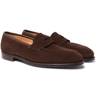George Cleverley Bradley Leather Penny Loafers Brown