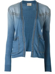 Laneus Studded Cardigan Blue