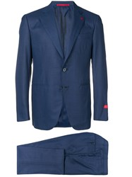 Isaia Two Piece Formal Suit Blue