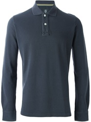Eleventy Longsleeved Slim Fit Polo Shirt Grey