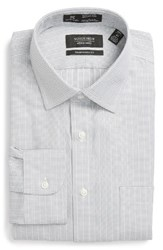 Nordstrom Men's Big And Tall Men's Shop Smartcare Tm Traditional Fit Stripe Dress Shirt Grey Sleet