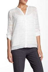 T Tahari Colton Blouse White