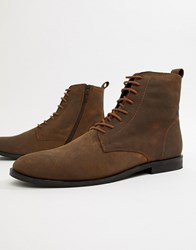 Kg By Kurt Geiger Leather Lace Up Boots Brown