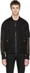 Diesel Black Gold Mesh Bomber Jacket