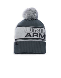 Under Armour Ua Retro Pom Beanie Hat True Gray Heather