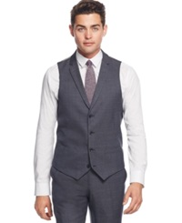 Bar Iii Navy And Charcoal Texture Slim Fit Vest Only At Macy's Blue