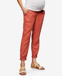 A Pea In The Pod Maternity Canvas Jogger Pants Redwood