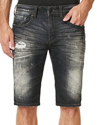Buffalo David Bitton Parker X Distressed Denim Shorts Black