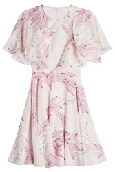 Giambattista Valli Printed Silk Dress Multicolored