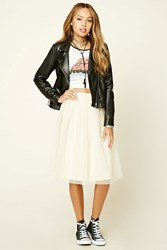 Forever 21 Pleated Tulle Skirt Taupe