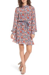 Juicy Couture Women's Larchmont Blooms Silk Shirtdress Slate Swirl Larchmonth Blooms