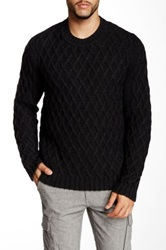 Autumn Cashmere Chunky Twisted Cable Sweater Black