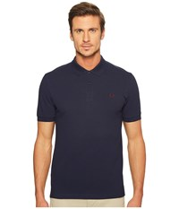 Fred Perry Slim Fit Solid Plain Polo Carbon Blue Men's Short Sleeve Pullover Navy