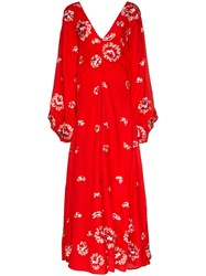 All Things Mochi Catalina Floral Embroidered Maxi Dress 60