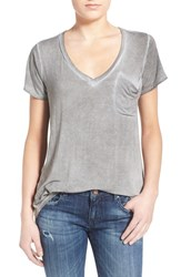 Women's Socialite V Neck Pocket Tee Olive