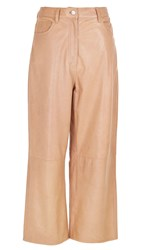 Tibi Anesia Leather Cropped Jeans