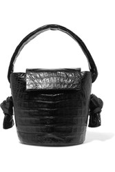 Nancy Gonzalez Crocodile Bucket Bag Black