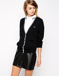 Fred Perry Tipped Cardigan Black