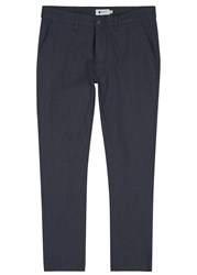Nn.07 Marco Navy Cotton Blend Trousers