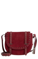 Vince Camuto Areli Suede And Leather Crossbody Saddle Bag Metallic Platino