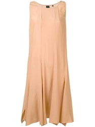 Aspesi Flared Dress Women Silk 44 Nude Neutrals