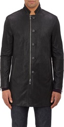 John Varvatos Star U.S.A. Oiled Nubuck Duster Black Size S
