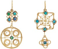Judy Geib Mismatched Drop Earrings Colorless