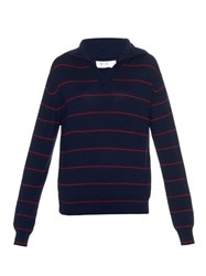 Mih Jeans Collared Striped Knit Sweater