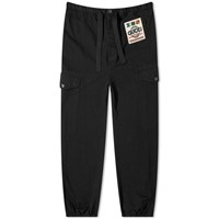 Gucci Cotton Drill Nautical Logo Patch Cargo Pant Black