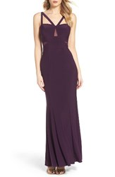 Xscape Evenings Women's Illusion Inset Gown