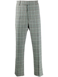 Alexander Mcqueen Check Tailored Trousers Black