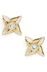 Ted Baker Women's London Kinna Enamel Stud Earrings White