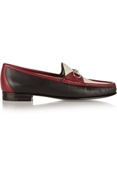 Gucci Horsebit Detailed Color Block Leather Loafers