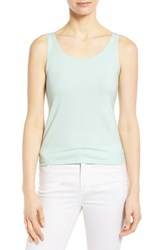 Women's Eileen Fisher Organic Cotton Scoop Neck Tank Greenmint