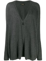 Max And Moi Zip Up Cashmere Cardigan Grey