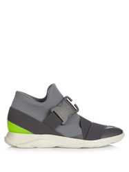 Christopher Kane Safety Buckle High Top Trainers Grey