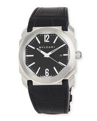 Bulgari 41Mm Stainless Steel Octo Solotempo Watch W Crocodile Strap Bvlgari